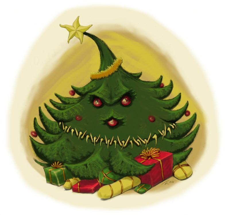 Christmas tree mimic